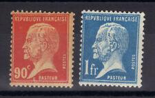 pasteur n°178,179 rouge et bleu 90 c et 1 fr neuf** MNH 1926