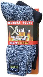 Polar Extreme Xtralite Thermal Lightweight Fleece Lined Winter Socks 2-Pack