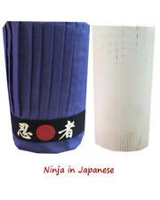 3pc Custom Hibachi chef tall hat set, Purple color Hibachi chef tall hat set New