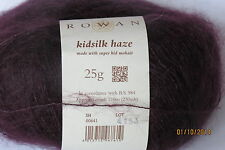 "Rowan ""KIDSILK HAZE"" Mohair/Silk Blend Yarn #0641 Black Currant"