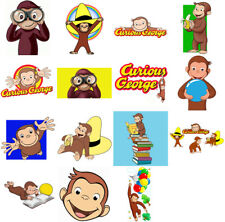 Curious George characters, iron on T shirt transfer. Choose image and size