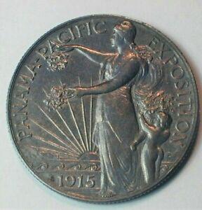 1915-S USA Panama - Pacific Commemorative Silver Half Dollar AU Condition  (106)
