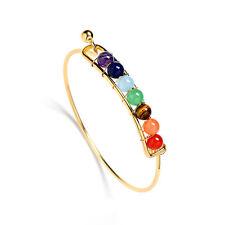 7 Chakra Healing Balance Beads Bracelet Yoga Life Energy Bracelet Ladies Jewelry Gold