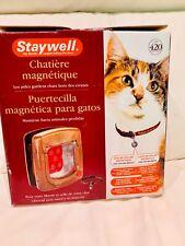 PetSafe Staywell Deluxe Magnetic Cat Flap, Woodgrain 420