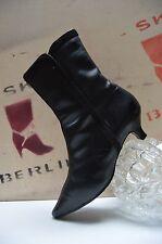 Stiefelette Winter Boots 50er TRUE VINTAGE bottes stivali Schmuckborte schwarz