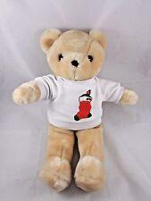 "Carousel Tan Bear Plush 16"" Christmas Sweatshirt Korea 1983"