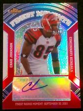 2007 Topps Finest CHAD JOHNSON #24/25! Autograph Refractor Finest Moments SSP