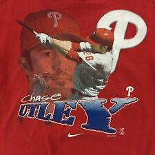 Kids CHASE UTLEY Philadelphia Phillies RED Photo Picture NIKE Tee-Shirt - Size 7