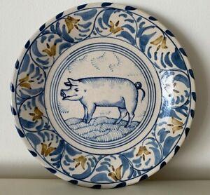 Vintage 1980 Artist's Signed Stoneware Plate