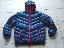 Raro Adidas Neo Azul Marino Rojo Forro Cálido Chaqueta De Plumón relleno de pluma, tamaño grande
