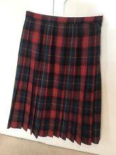 Kinloch Anderson 100% wool authentic ladies tartan skirt size 14