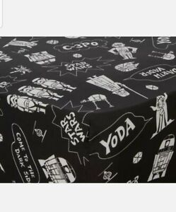 Star Wars Single Fitted Bed Sheet ~ Kids Black & White 'Cartoon' Style Design