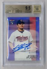 BYUNG-HO PARK 2016 TOPPS FINEST PURPLE REFRACTOR ROOKIE AUTO #3/30 BGS 9.5 10