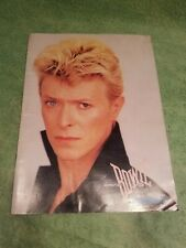 David Bowie Tour 83 Program.Look.!