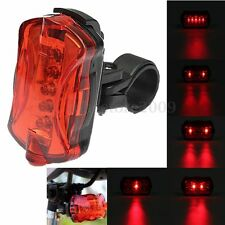 Waterproof Bike Bicycle Cycling 5 LED 7Modes Night Flashing Rear Tail Light Lamp