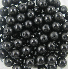 New Glass Pearl Round Spacer Loose Beads 8mm/50pcs   Black