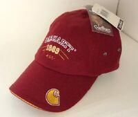 CARHARTT Dark Red Wool Hat Baseball Cap Mens Size OSFA NEW NWT