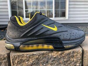 Men's Vintage Nike Air Max Athletic Shoes Size 9 Metallic Black 030305 Y3