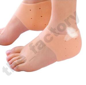 Pair of Gel Heel Protector Pad Cushion Sock Sleeves for Feet Plantar Fasciitis