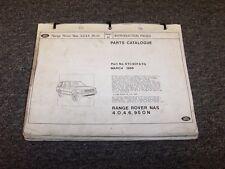 1995 1996 1997 1998 Land Rover Range Rover SUV Original Parts Catalog Manual V8