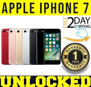 Apple iPhone 7 - 32GB / 128GB (UNLOCKED) ✅1 YEAR WARRANTY ✅ ⚫️🔴⚪️🟠 ❖SEALED❖