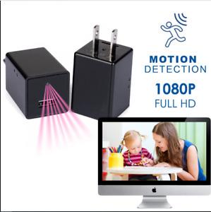 32GB 1080P USB Mini Motion  Wall Charger Camera US Adapter FULL HD Cam