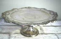 Gorham Chantilly Duchess Pedestal Cake Plate Electo Plated Silver YC1346 Vintage