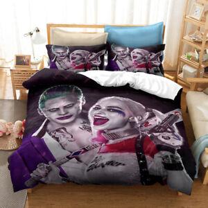 Harley Quinn And Joker 3D Bedding Duvet/Quilt/Doona Cover Sets Pillowcases G