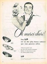 PUBLICITE  1955   LIP  montres femme