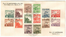 1944 Philippines Cover Japan Occupation Manila Used Complete Set Sc#N12-N25
