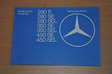 MERCEDES W126 280S 280SE 280SEL 350SE BA Bedienungsanleitung Betriebsanleitung