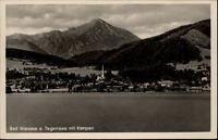 Bad Wiessee Tegernsee Postkarte ~50er Jahre Gesamtansicht mit Blick gegen Kampen