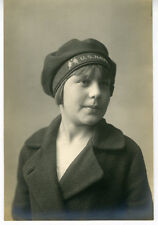 WWI Photo of Woman wearing a US Navy Hat