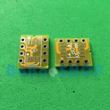 10pcs Gold Dual SOIC8 SOP8 to DIP8 Adapter PCB Board for Mono Opamp OPA627 AD797