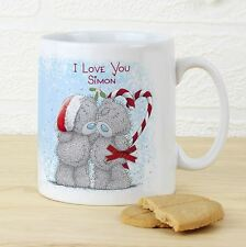 Me to You Romantic Personalised Christmas Mug Gift Name & Message Xmas