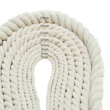 Baumwollseil 4-20mm Meterware 20/50m Makramee gedreht Natur-Baumwolle Seil DE