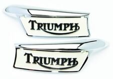Tank Badges UK USA spec Triumph Bonneville T120 T140 TR6 Trophy 82-9700 82-9701