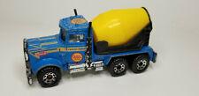1981 Vintage Old Matchbox PETERBILT CEMENT MIXER TRUCK 1:80 Blue Yellow Truck