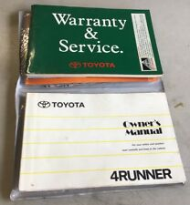 Owners Manual Toyota Hilux 4runner 1992