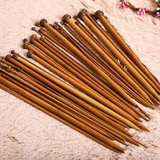 36Pcs 18size 36cm Carbonized Bamboo Single Pointed Knitting Needles Yarn Tools