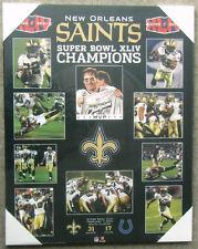 New Orleans Saints Super Bowl 44 Championship Picture Plaque