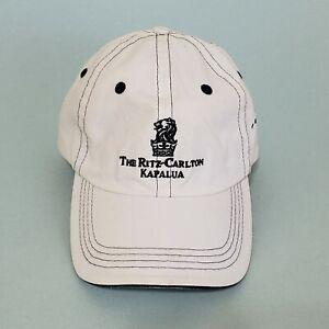 The Ritz Carlton Kapalua Maui Hawaii White Baseball Cap Hat Golf