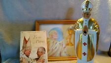 Pope John Paul II, Mike Wayne Co. Amaretto Syrup Bottle Decanter, DVD, Painting