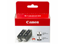 Genuine Canon PGI-5BK Black Ink Cartridge New in Box Double Pack