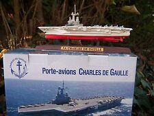 RE0042  PORTE AVION CHARLES DE GAULLE  MAQUETTE BATEAU  MARINE NATIONALE TOULON