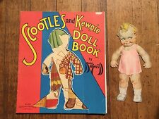 Vintage 1936 Scootles and Kewpie Cut Out Paper Doll Book Cute!