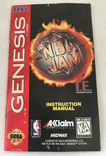 NBA Jam - Instruction Manual Booklet Only - Sega Genesis