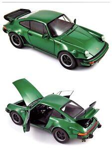 1/18 Norev Porsche 911 Turbo 3,3L 1975 Metallic Green Neuf Livraison Domicile