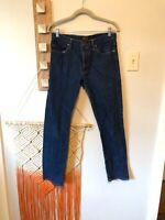 Flint And Tinder Jeans 31 Mens Dark Wash Button Fly Straight Denim