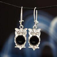 Onyx Silber 925 Ohrringe Damen Schmuck Sterlingsilber H0248